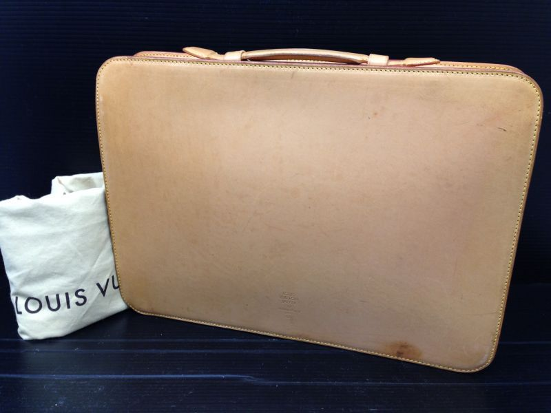 Photo1: Louis Vuitton Nomade Camel Document Case Japan 20th Anniversary1998 6J250060N (1)