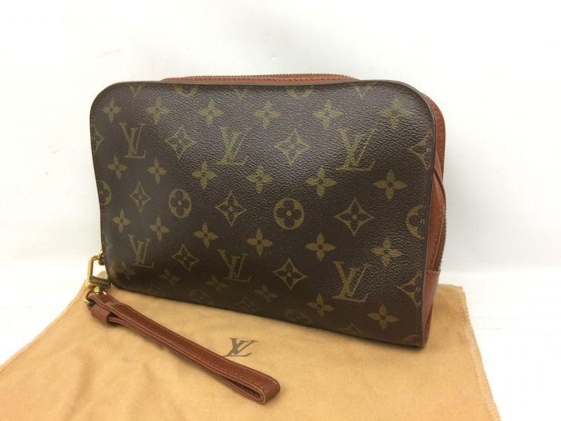 Photo1: Auth Louis Vuitton Monogram Canvas Orsay Clutch bag 7K230080r (1)