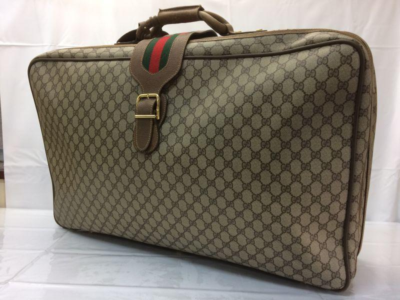 Photo1: Auth GUCCI GG Pattern PVC Canvas Travel Hand Boston Bag 8B070950r (1)