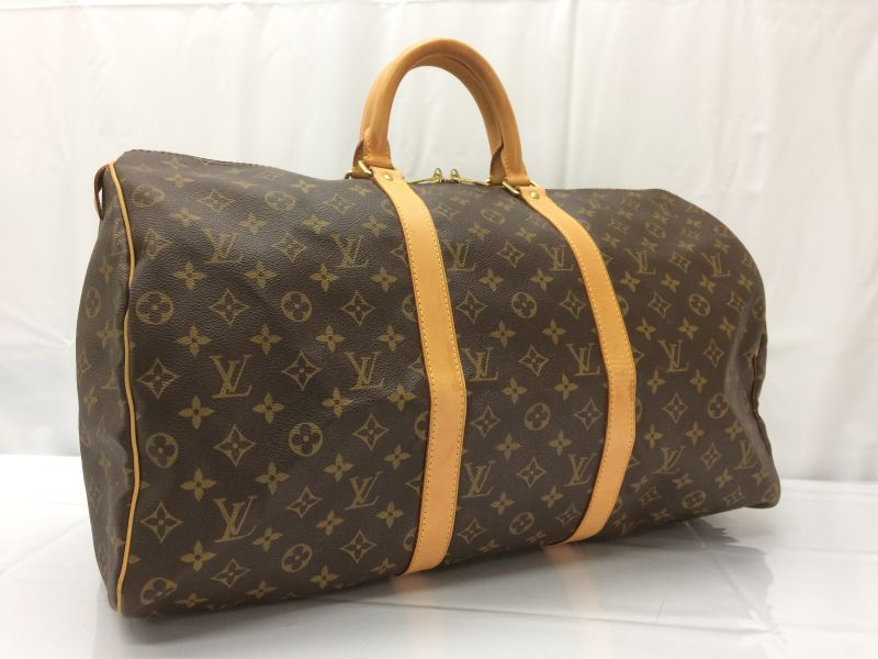 Photo1: Auth Louis Vuitton Monogram Keepall 50 Travel Hand Bag 8D040720n (1)