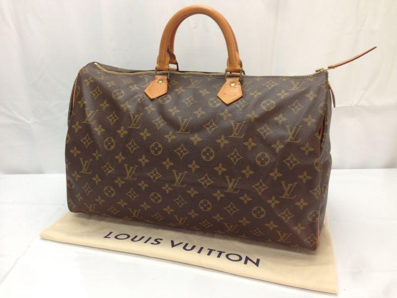 Photo1: Auth LOUIS VUITTON Monogram Speedy 40 Hand Bag 8D180050t (1)