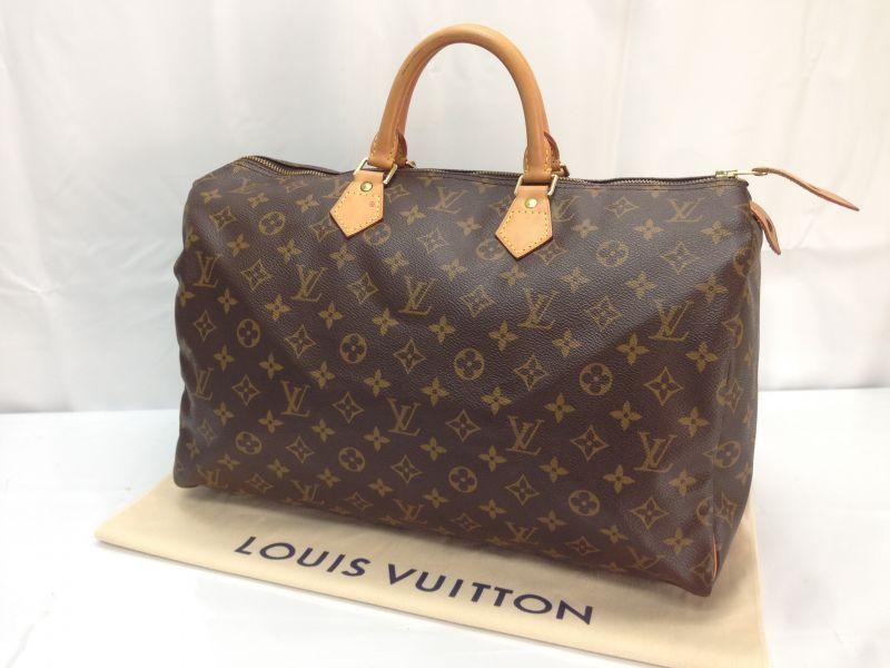 Photo1: Auth LOUIS VUITTON Monogram Speedy 40 Hand Bag 8D180060t (1)