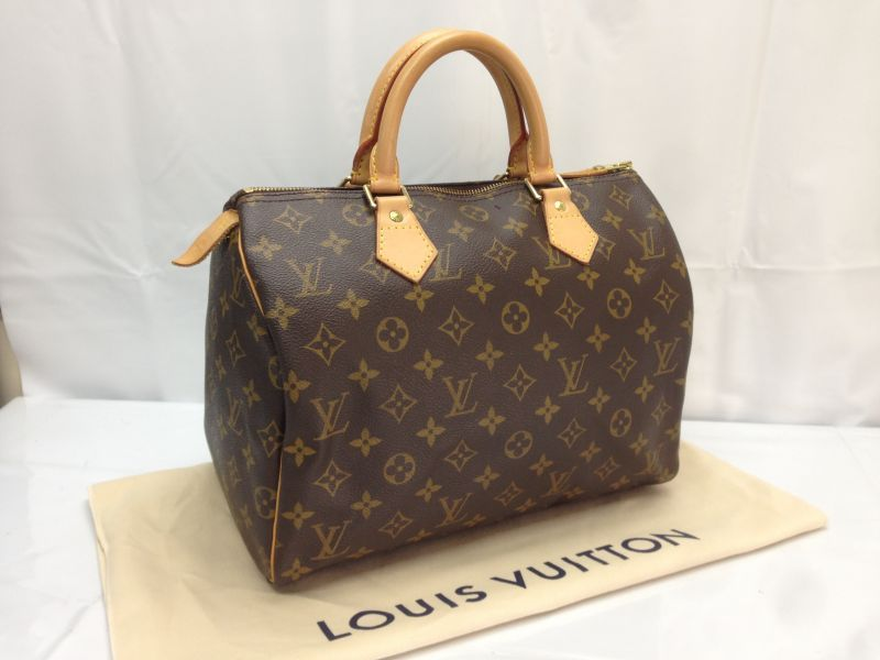 Photo1: Auth LOUIS VUITTON Monogram Speedy 30 Hand Bag  8D180040t (1)