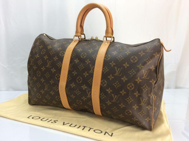 Photo1: Auth Louis Vuitton Monogram Keepall 45 Travel Bag 8E120620n (1)
