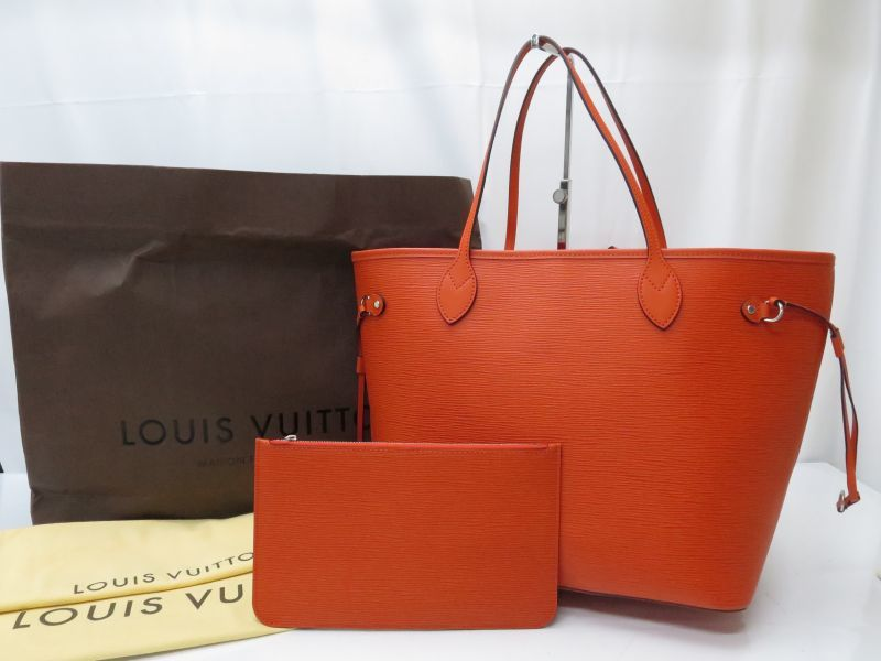 a1877f9a7 Auth LOUIS VUITTON Epi Neverfull MM Shoulder Tote Bag with Pouch 8H120020m