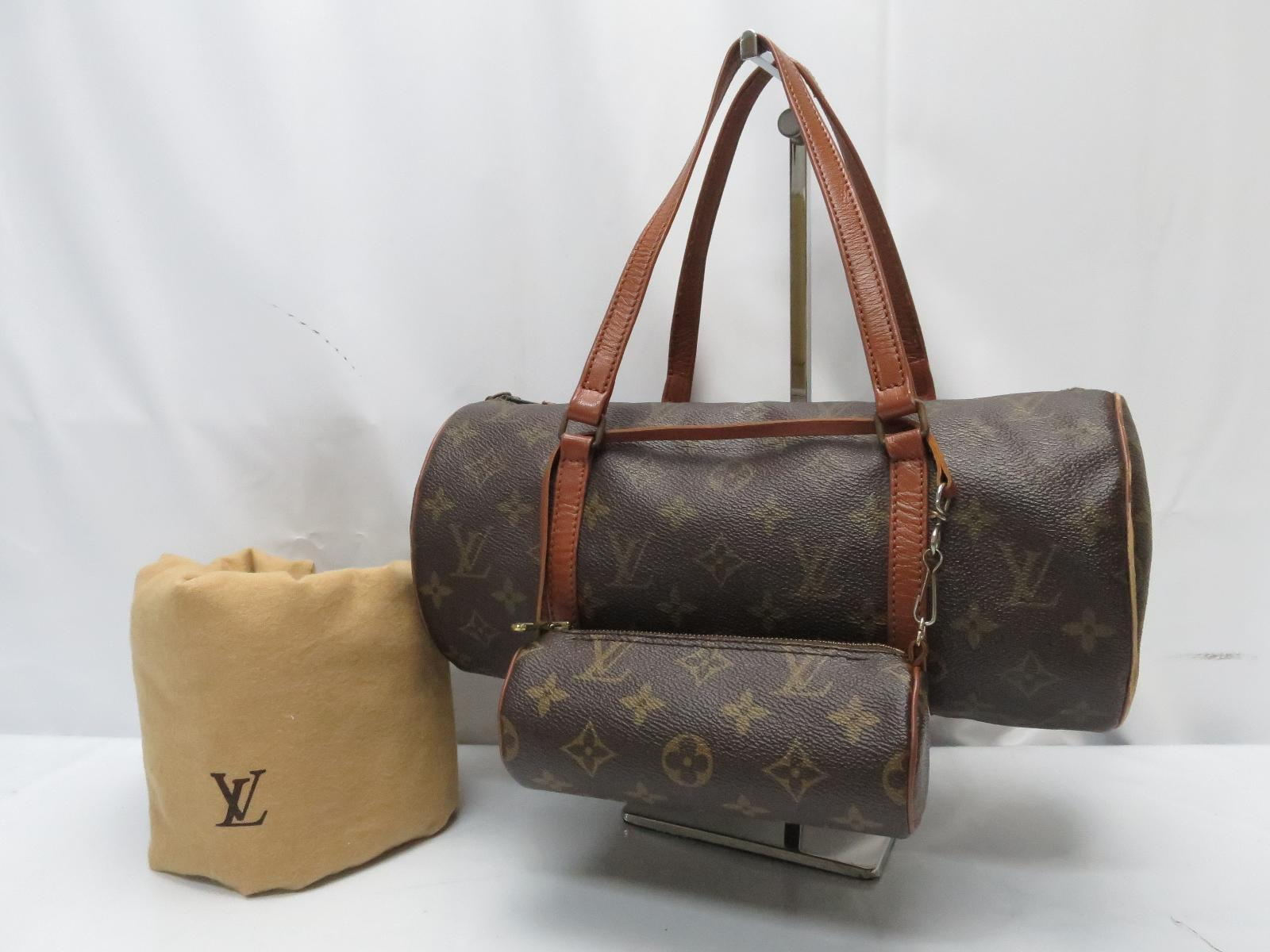 Photo1: Auth Louis Vuitton Monogram Papillon 30 Hand Bag with Pouch Vintage 8H210300m (1)
