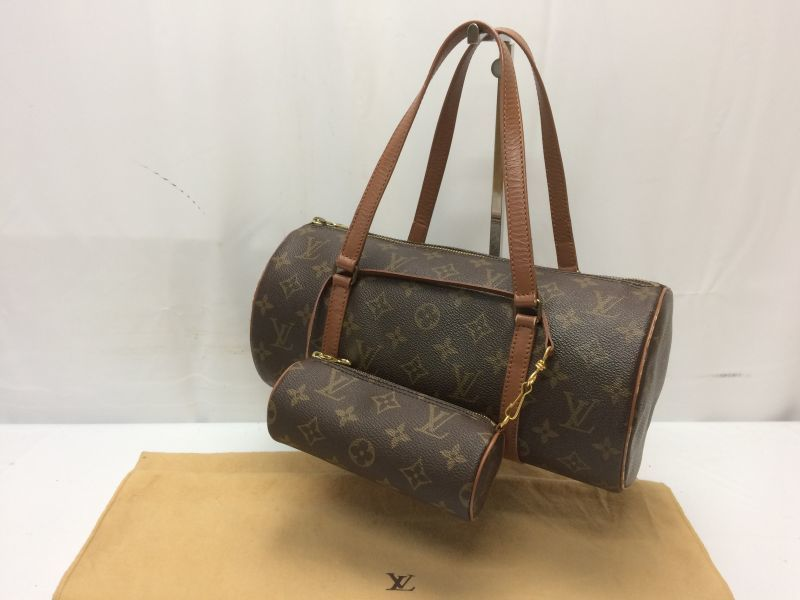 Photo1: Auth Louis Vuitton Monogram Papillon 30 Hand Bag with Pouch  8i170240m (1)