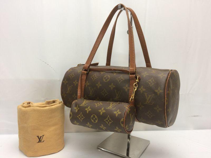 Photo1: Auth Louis Vuitton Monogram Papillon 30 Hand Bag with Pouch  8i190140m (1)