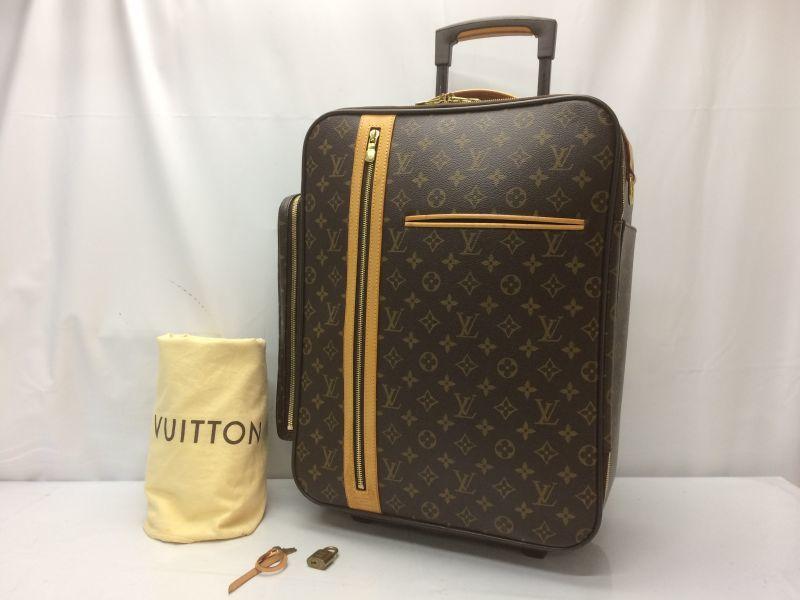1b7342c2a Auth Louis Vuitton Monogram Trolley 45 Bosphore Travel Carry bag 8J220190n