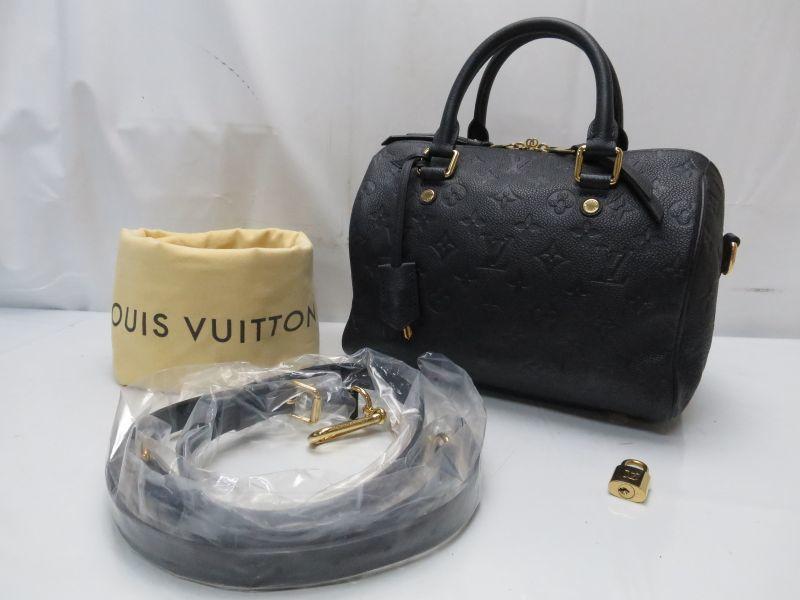 Auth Louis Vuitton Empreinte Speedy Bandouliere 25 Shoulder Hand Bag
