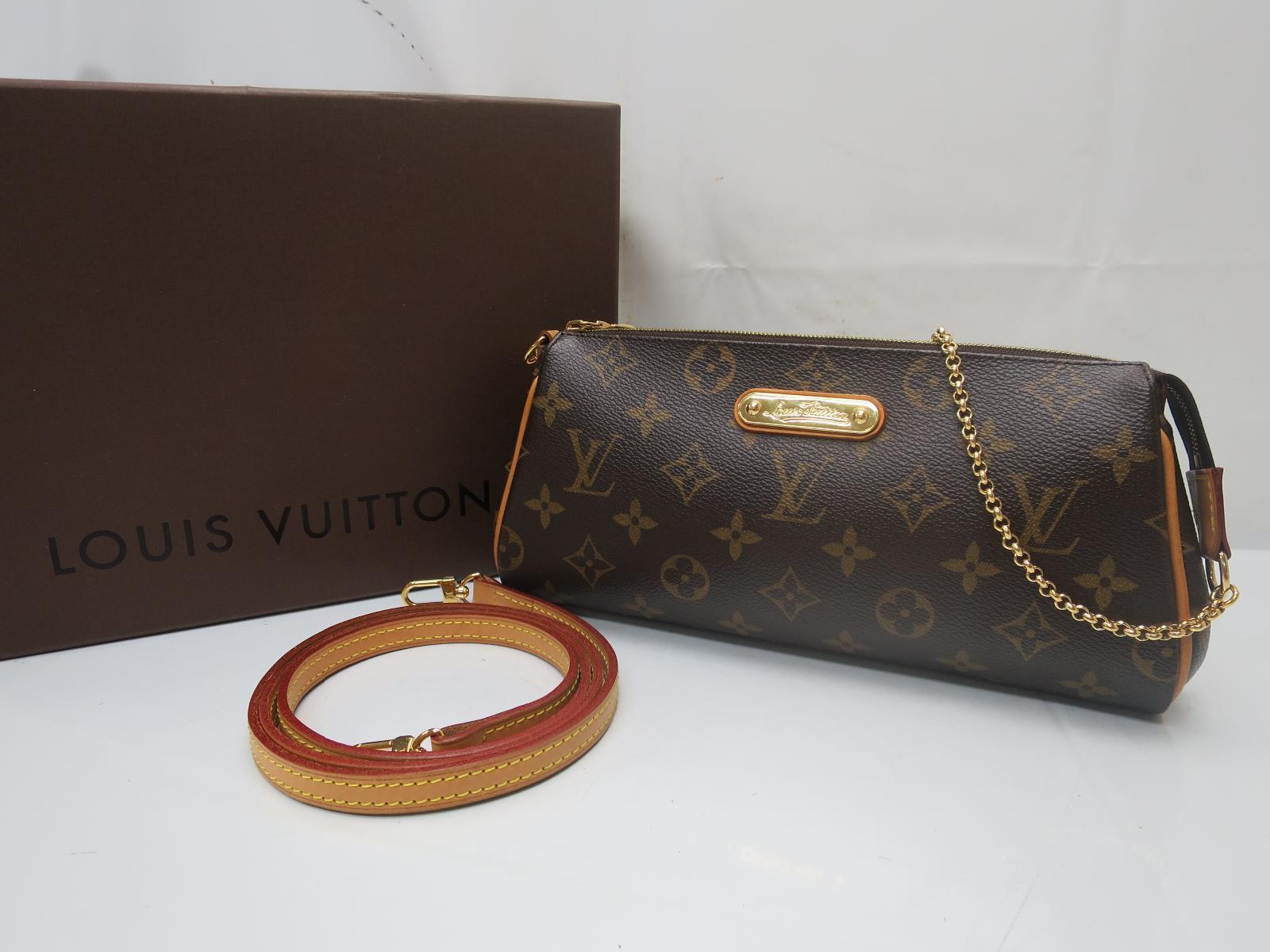 Photo1: Auth Louis Vuitton Monogram Eva Accessories Pouch with Shoulder Strap 8J310280n (1)