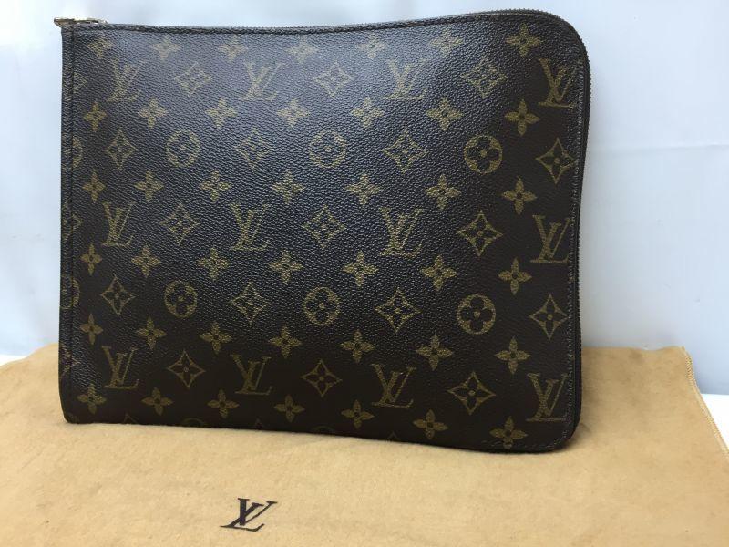 Photo1:  Auth Louis Vuitton Monogram Posh Document Clutch Bag Vintage 9C060110n (1)