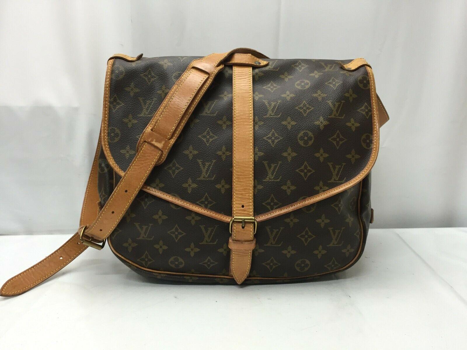 Photo1: Auth Louis Vuitton Monogram Saumur 35 Shoulder Bag 9E080340F (1)
