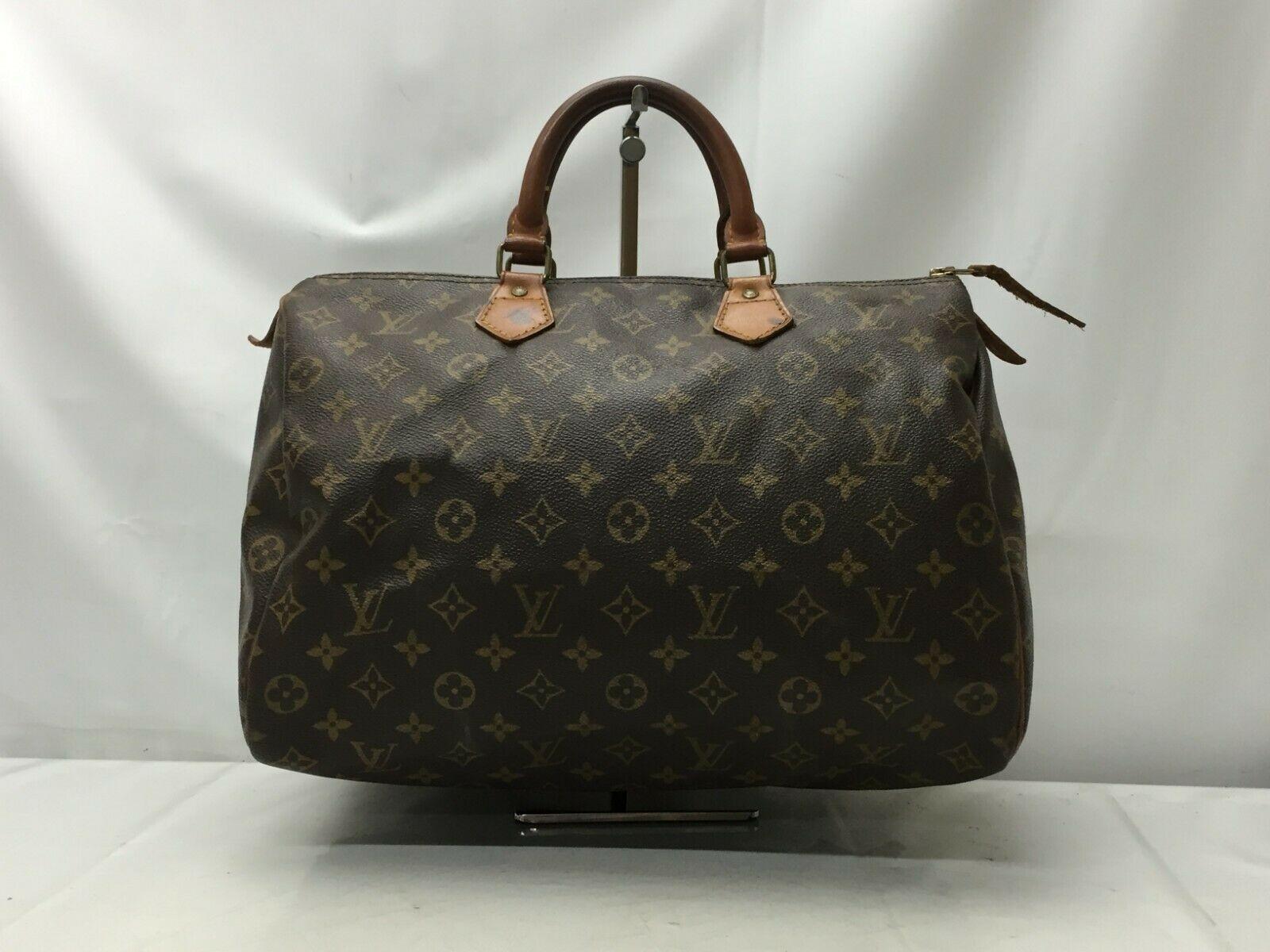 Photo1: Auth Louis Vuitton Monogram Speedy 35 Hand Bag Vintage 9F050340m (1)