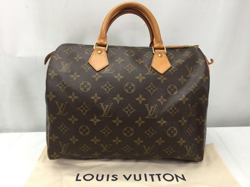 Photo1: Auth LOUIS VUITTON Monogram Speedy 30 Hand bag 9F260190n (1)