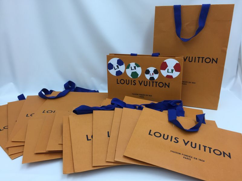 Photo1: Auth Louis Vuitton Paper Dust Bag Middle & Small mixed 22 set 9H070020n (1)