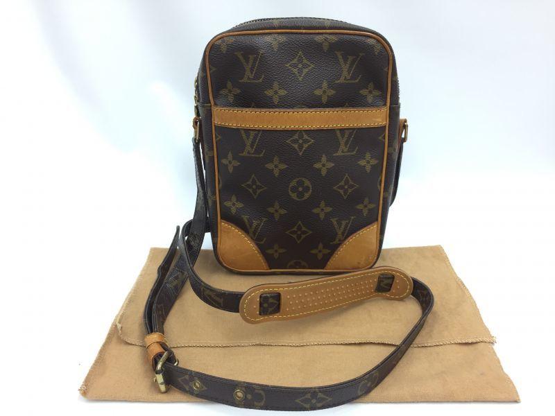 Photo1: Auth Louis Vuitton Monogram Danube Cross Body Shoulder Bag 9H120070g (1)