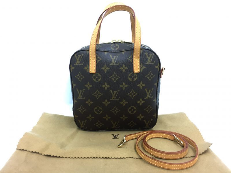 Photo1: Auth Louis Vuitton Monogram SPONTINI 2WAY Shoulder Hand BAG 9H120120n (1)