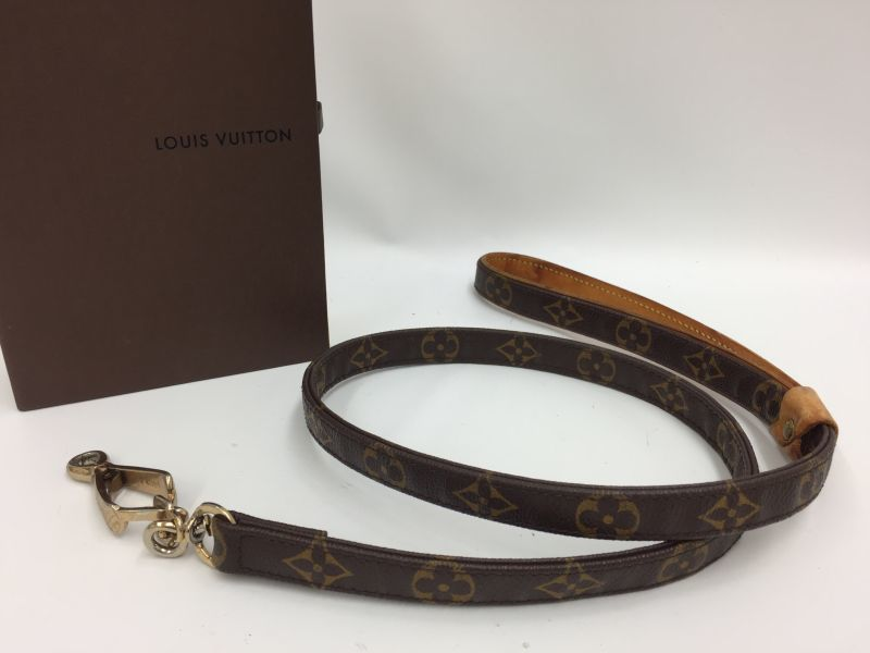 Photo1: Auth Louis Vuitton Monogram PVC Lead 42 inches (106 cm) for Dog 9H120200n (1)