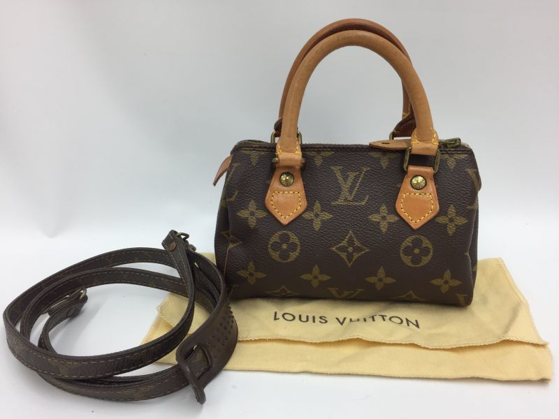 Photo1: Auth Louis Vuitton Monogram Mini Speedy 2 way AB rank Shoulder bag 9H120140n (1)