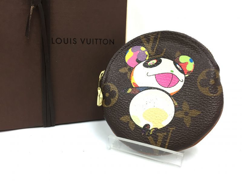 Photo1: Auth Louis Vuitton Monogram PANDA TAKASHI MURAKAMI Coin Case  9i100050n (1)
