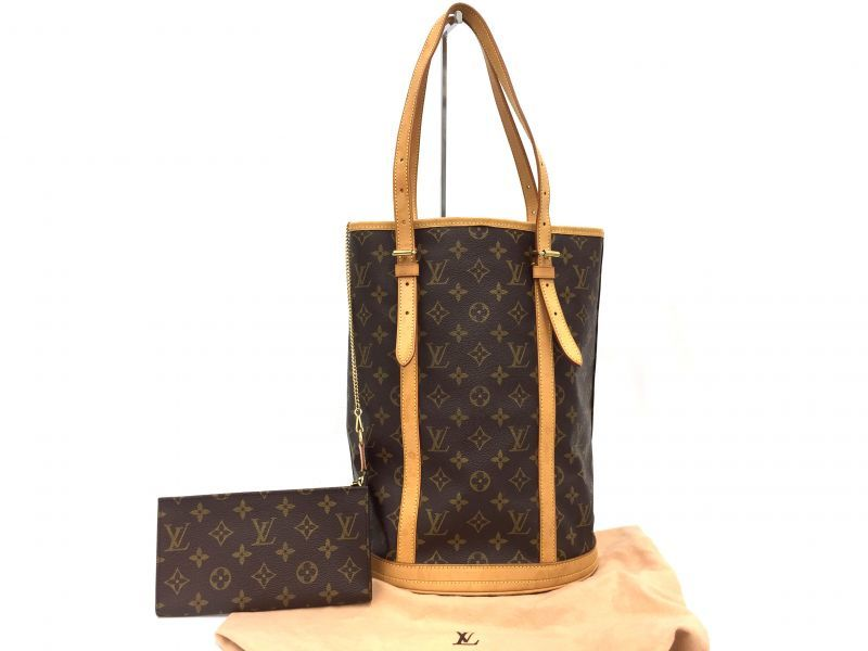 Photo1: Auth Louis Vuitton Monogram Bucket GM Shoulder bag with Pouch 9i120010n (1)