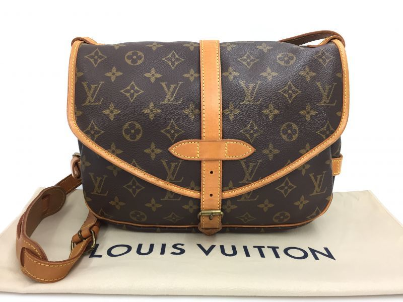 Photo1: Auth Louis Vuitton Monogram Saumur 28 Shoulder Bag 9i100070g (1)