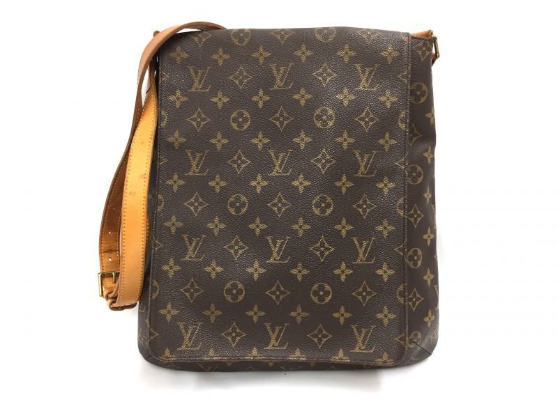 Photo1: Auth Louis Vuitton Monogram Musette Salsa GM Shoulder Bag 9i100020g (1)