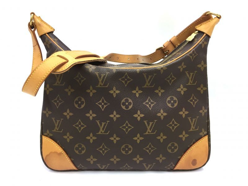 Photo1: Auth Louis Vuitton Monogram Boulogne Shoulder Bag Vintage 9i100100g (1)