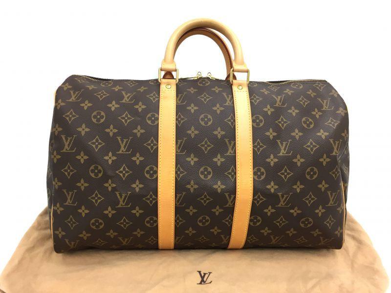 Photo1: Auth Louis Vuitton  Monogram Keepall 45 Travel  Hand Bag 9i170030g (1)