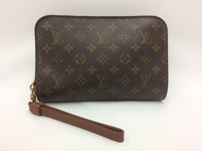Photo1: Auth Louis Vuitton Monogram Orsay Clutch Hand bag 9J120070n (1)