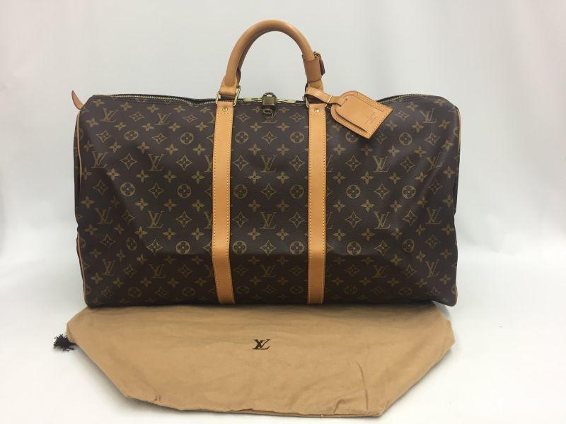 Photo1: Auth Louis Vuitton Monogram Keepall 55 Travel Hand Bag Vintage 9L050360n (1)