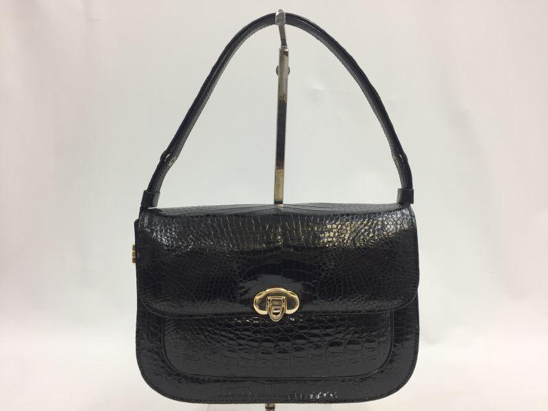 Photo1: Fashion Womens Lady Patent Leather Crocodile Shoulder Hand bag 9L120180n (1)