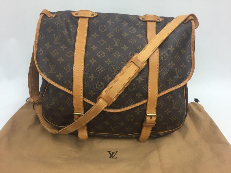 Photo1: Auth Louis Vuitton Monogram Saumur 40 Shoulder bag Vintage 9L050220n (1)