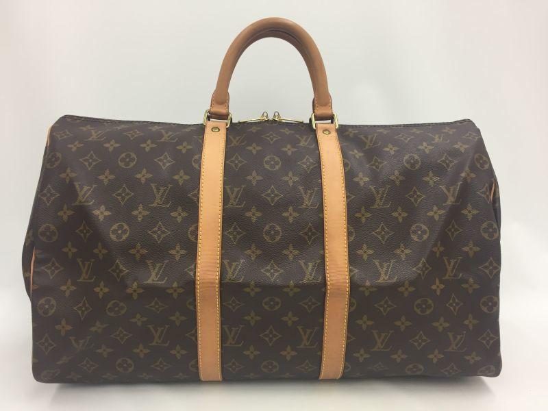 Photo1: Auth Louis Vuitton Monogram Keepall 50 Travel Hand Bag Vintage 9L050280n (1)