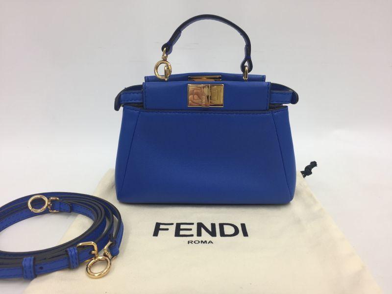 Photo1: Auth Fendi Mini Peekaboo Iconic  2 Way Shoulder Hand Bag good 9L050320n (1)