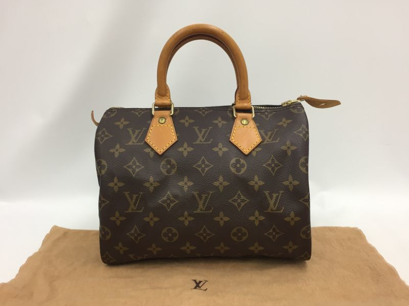 Photo1: Auth Louis Vuitton Monogram Speedy 25 Hand bag Vintage 0A090130n (1)