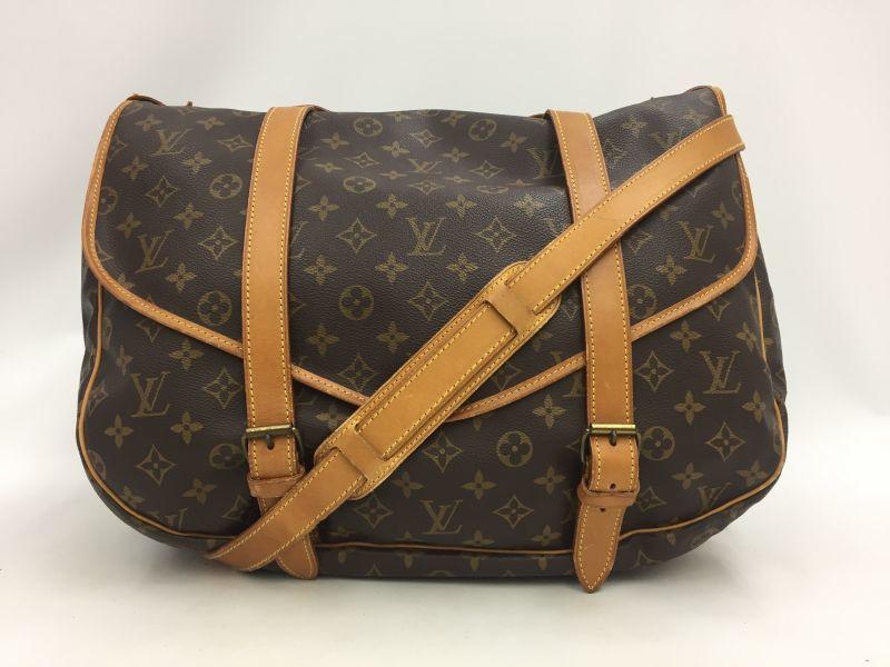 Photo1: Auth Louis Vuitton Monogram Saumur 43 Shoulder Bag Vintage 0A150030n (1)