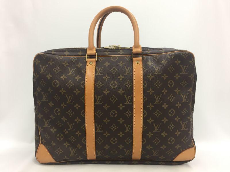 Photo1: Auth Louis Vuitton Monogram Sirius 45 Travel hand bag 2 Porches 0A220140n (1)