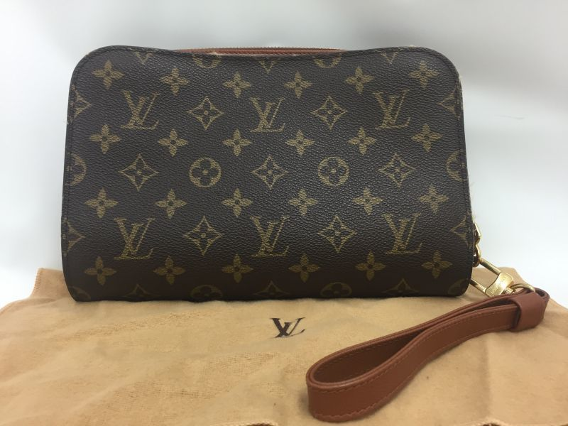 Photo1: Auth Louis Vuitton Monogram Orsay M51790 clutch bag Vintgage 0A220020n (1)