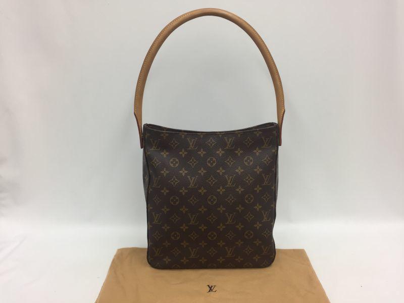 Photo1: Authentic Louis Vuitton Monogram Looping GM Shoulder bag 0A230040n (1)