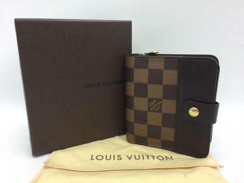 Photo1: Auth Louis Vuitton Damier Ebene compact Zip Bifold Wallet UNUSED 0A280180n (1)