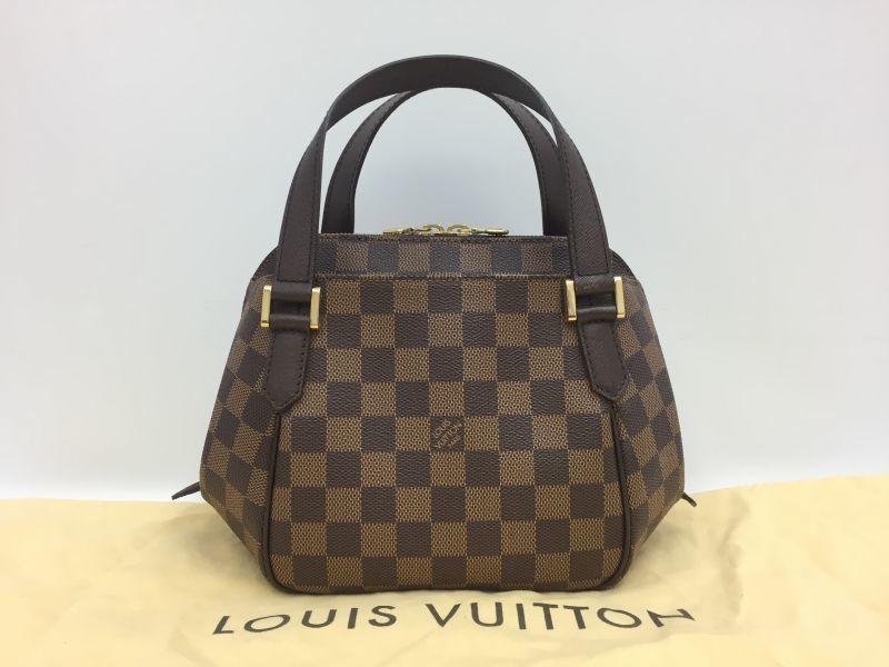 Photo1: Auth Louis Vuitton Damier Ebene Belem PM N51173 Hand bag 0B270190n (1)