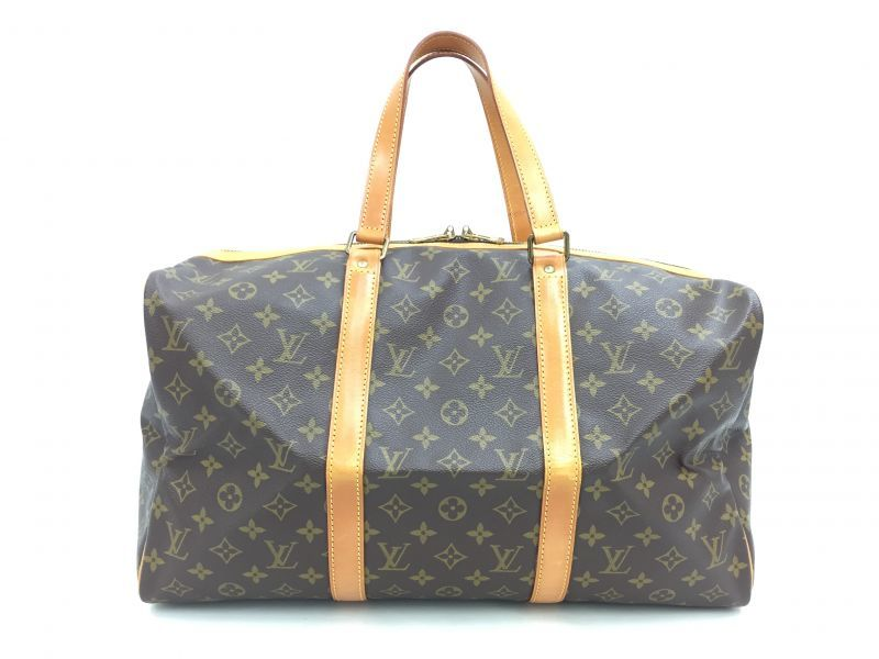 "Photo1: Auth LOUIS VUITTON Monogram Sac Souple 45 Hand bag Vintage 0C050040n"" (1)"