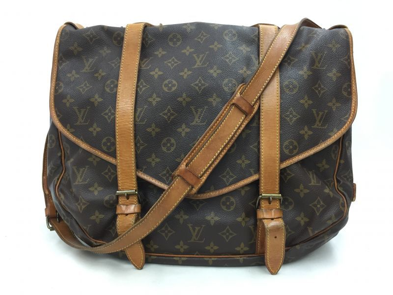 "Photo1: Auth Louis Vuitton Monogram Saumur GM Shoulder Bag Vintage 0C100110n"" (1)"