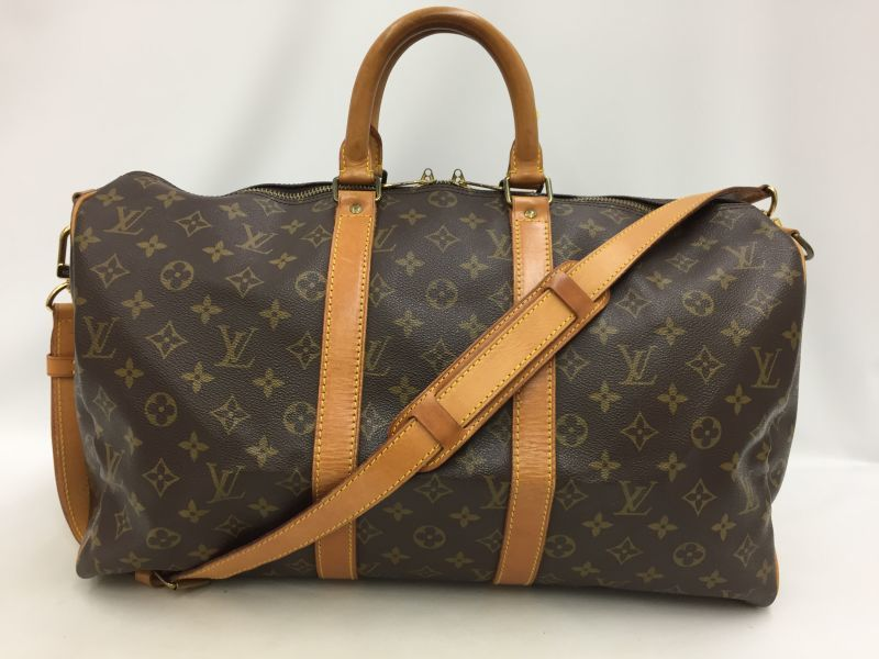 "Photo1: Auth Louis Vuitton Monogram Keepall Bandouliere 45 Travel Hand Bag 0C120070n"" (1)"