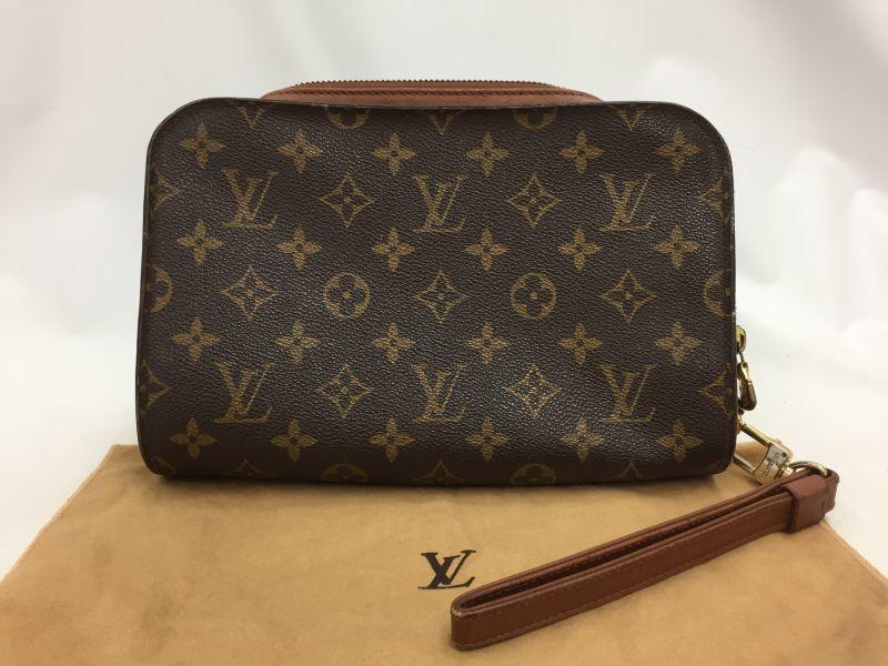 """Photo1: Auth Louis Vuitton Monogram Orsay Clutch Hand bag vintage 0D070080n"""" (1)"""