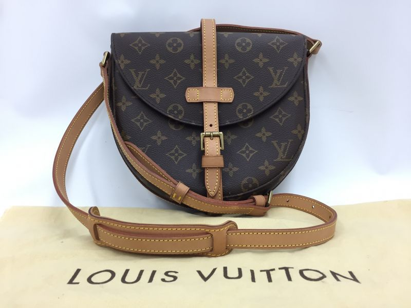 """Photo1: Auth Louis Vuitton Monogram Chantilly MM Shoulder Bag Rivet Torn off  0D070040n"""" (1)"""