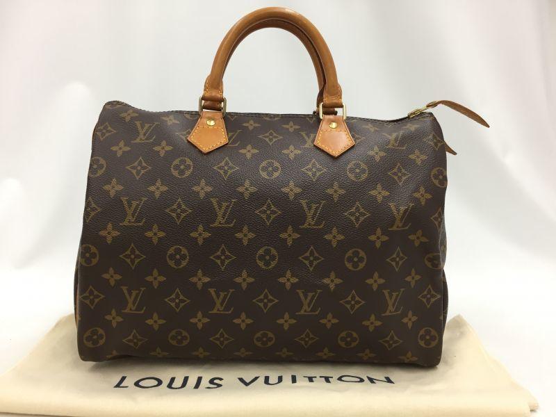 "Photo1: Auth Louis Vuitton Monogram Speedy 35 Hand Bag Vintage 0D020160n"" (1)"