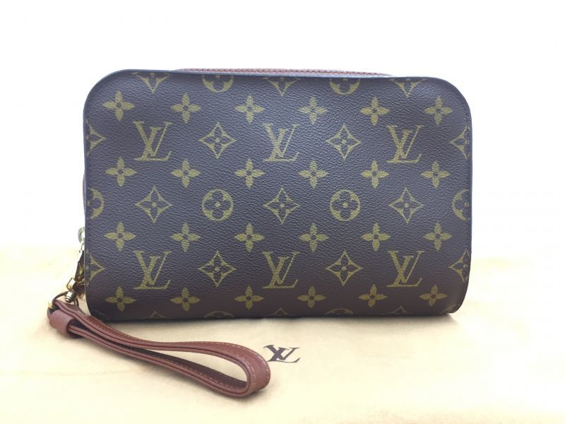 """Photo1: Auth Louis Vuitton Monogram Orsay Clutch Hand bag vintage 0D280040n"""" (1)"""